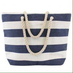 "S Hewitt on Twitter: ""Nautical wide stripe beach bag https://t.co/nGM4K3Te8u #blue #bags #ropehandle #crafts #shopping https://t.co/b6CTR5flSr"""