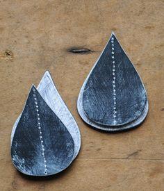 Teardrop earrings in progress - Genevieve Williamson