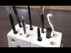 Подставка для ручек деревянный кубик . - YouTube