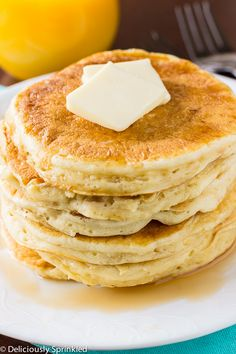 Homemade Buttermilk Pancakes on MyRecipeMagic.com