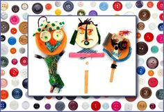 Emily Green's Fun Projects for Kids on DailyCandyKids.com Make your own stick puppets!