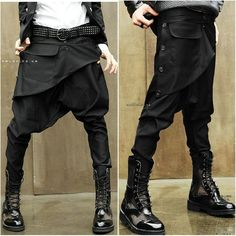 Autumn and winter skinny pants harem pants male low-rise pants baggies male boot cut jeans personality trend of the male