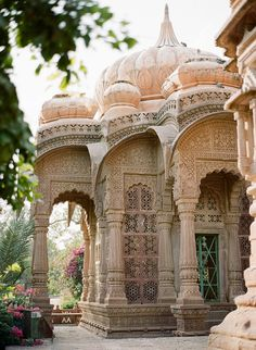 i can't wait for our trip to india // Mandore Gardens, ancient Indian architecture, Rajasthan - India Places Around The World, Oh The Places You'll Go, Places To Visit, Around The Worlds, Indian Architecture, Ancient Architecture, Cultural Architecture, Modern Architecture, Rajasthan India