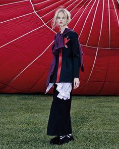 Irene Hiemstra in een luchtballon voor Prestage