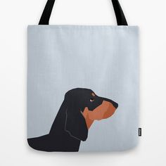 Dakota - Dachshund phone case fun and bright for pet lovers and gift for dog people Tote Bag by PetFriendly - $22.00