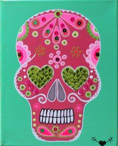 Calavera Mexicana in red