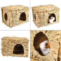 GLOGLOW Pets grss HousePet Grass Small Pet Animal HandWoven Grass Cage Hamster Playing Sleeping House -- Inspect this remarkable product by mosting likely to the link at the image. (This is an affiliate link). Small Animal Cage, Pet Cage, Picture Link, Grass, Hand Weaving, Rabbit, Pets, House, Animals