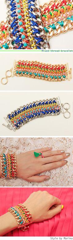 Mixed thread bracelet