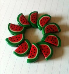 watermelon bracelet  #polymer clay #fimo #sculpey