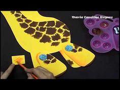 Maria Carolina Rugero Jirafa en foamy tecnica creyon - YouTube Jungle Animals, Animal Party, Youtube, Tv, Giraffes, Learn To Draw, Manualidades, Notebooks, Blue Prints