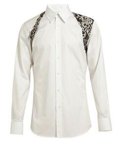 ALEXANDER MCQUEEN - Lace Detail Cotton Shirt