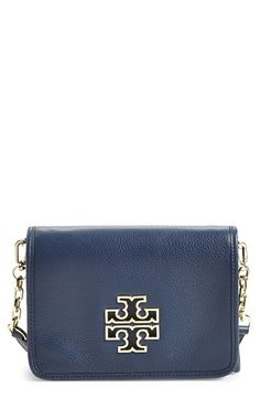 Tory Burch 'Britten' Leather Crossbody Bag available at #Nordstrom