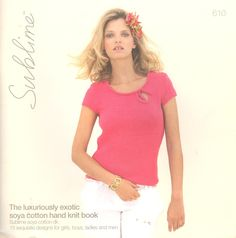 The Luxuriously Exotic Soya Cotton Hand Knit Book № 610