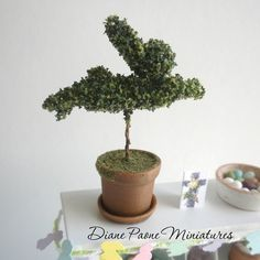 doll house miniature topiary | ... Bunny Topiary Bush - Dollhouse Miniature ... | Dollhouse Holid