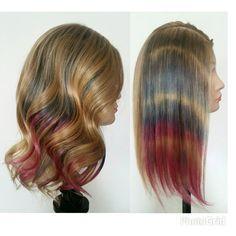 #tiedye #hair #coloured #long Tie Dye Hair, Pretty Cool, Long Hair Styles, Instagram Posts, Color, Beauty, Dyed Hair, Long Hair Hairdos, Long Haircuts