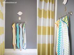 S-hooks on towel rack for multiple children