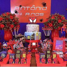 Linda festa do homem aranha ❤️#spiderman #homemaranha #mae_festeira #maefesteirahomemaranha por @kakaphileto e @camilamedradomelo