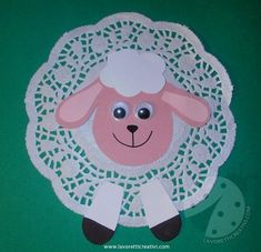 Farm Animal Crafts, Animal Crafts For Kids, Owl Crafts, Easter Crafts For Kids, Toddler Crafts, Diy For Kids, Paper Doily Crafts, Doilies Crafts, Diy Paper