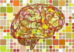 脳, 生物学, 抽象的な, 大脳, 科学, 解剖学, 灰色の問題