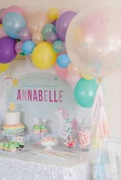 Throw your kiddo the birthday party dreams are made of with this Magical Unicorn Party theme! Colorful and whimsical as can be, this party is full of ideas for decorations, dessert, party hats, favors, and more!