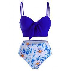 Lovely! Floral Tie Dye Tankini Swimwear #shoes #fashions