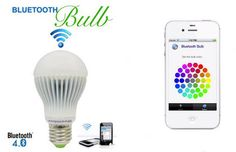 The Bluetooth Bulb: download the iPhone app, and then you can precisely control this LED fixture's intensity. Awesome.