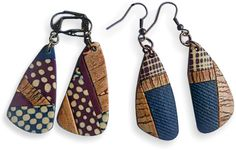These fabric-like earrings were assembled by France's Maryvonne Kottelat. The patterns were leftovers froma class taught byHélène Jeanclaude and sponsored by Cernit.Here are Maryvonne'sblog, andFacebook, Be warnedthat following the links [...]
