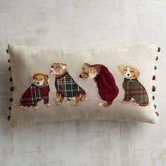 Dogs With Sweaters Lumbar Pillow