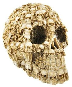 Human Skull Decorated with Skeletons and Skulls
