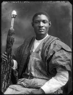 King Adeniji-Adele II, The Oba of Lagos, Nigeria 1920