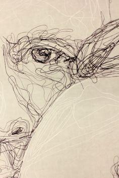 Louise Riley Line Artist, Renaissance, A Level Art, Doodle Sketch, Elements Of Art, Textile Artists, Portrait Art, Line Drawing, Screen Printing