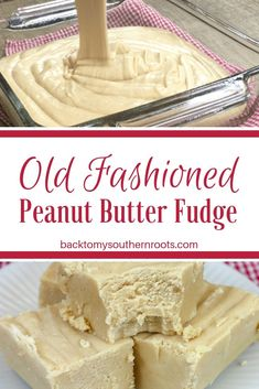Y'all are gonna love this old fashioned fudge recipe with peanut butter. Creamy Peanut butter fudge is always popular around the holidays. Candy Recipes, Sweet Recipes, Dessert Recipes, Southern Recipes, Homemade Fudge, Homemade Candies, Holiday Baking, Christmas Baking, Retro Christmas