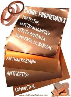 Usos Saludables del Cobre - Club Salud Natural  #cobre