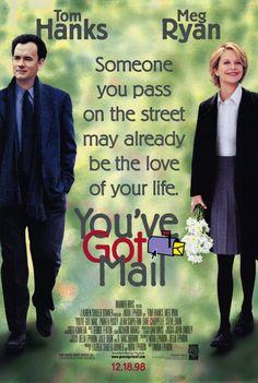 You've Got Mail (1998) ~ Movie Poster #amusementphile