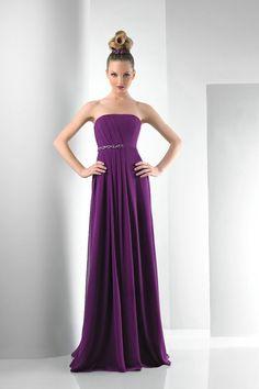 5367c41551e41 Strapless Chiffon Floor Length Beading Purple Long Bridesmaid Dress  Outlet.jpg (576×864