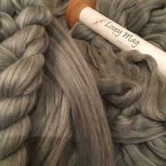Giant knitting blankets and throws lovingly handmade with cloud soft luxurious merino unspun chunky wool roving Giant Knitting, Extreme Knitting, Chunky Wool, Knitted Blankets, Beautiful Hands, Grey, Handmade, Gray, Hand Made