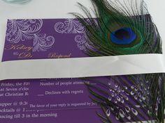 Modern Elegant Peacock Wedding Invitations  by MyMemorableDesigns, $5.40