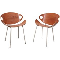 Pair of Olof Kettunen Chairs for Merivaara, Finland, 1950s | See more antique and modern Chairs at https://www.1stdibs.com/furniture/seating/chairs