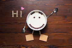 Hi!! #CiaoCiao #Hi #Funny #Fun #Milk #Colazione #Food #Heart #Sorriso #Smile #Nikon #Divertente #Arte #Art #Photography #Surreal #Fantasy