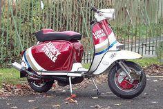 Lucky Strike Lambretta by Tim . Simpson, via Flickr