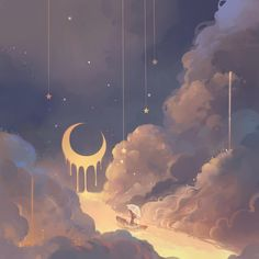 Anime Scenery Wallpaper, Aesthetic Pastel Wallpaper, Aesthetic Wallpapers, Wallpaper Art, Art And Illustration, Pretty Art, Cute Art, Aesthetic Art, Aesthetic Anime