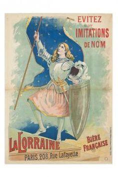 Eugène Ogé, La Lorraine, France, 1892. Evitez les imitations de nom, La Lorraine, Paris, 208 rue Lafayette. bière française