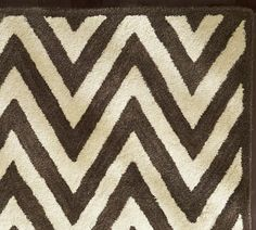black and white zig zag rug from Pottery Barn...