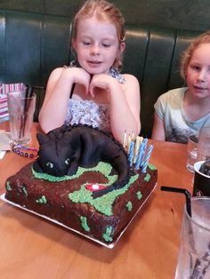 Jess and toothless cake