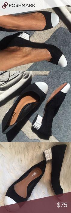 2856af474 Schutz toe cap sculptural block heel pumps flats Are these low heeled pumps  or block heel