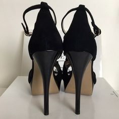 "Steve Madden Vanissa 5.25"" Heels Suede Upper, ruffle detailing, adjustable ankle strap, synthetic outsole. 1.25"" platform with 5.25"" heel. Gently used in good condition. Comes with box. Steve Madden Shoes Heels"