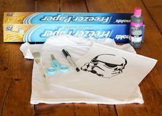 Finley and Oliver: DIY Star Wars Freezer Paper Stencil T-shirt