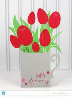Spring Tulips Card by Amanda Coleman