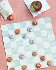 A Fold-Up on the go Checker Board. Perfect for vacations and road trips!