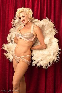 Nine blonde burlesque dancers with lovely big western butts 7